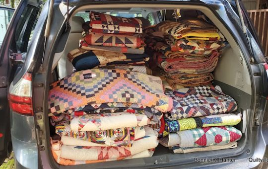 The Great Quilt Relocation Trip -